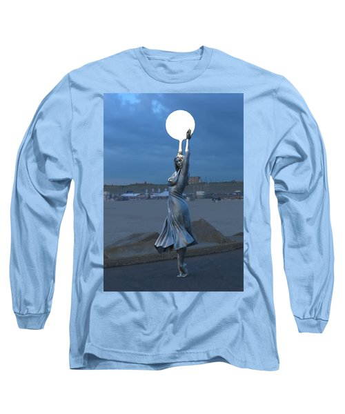 Modernist Lamppost At Night Long Sleeve T-Shirt