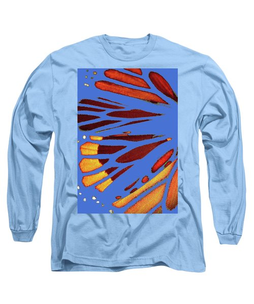 Monarch Abstract Blue Long Sleeve T-Shirt