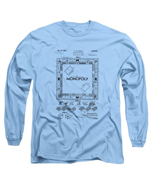Monopoly Original Patent Art Drawing T-shirt Long Sleeve T-Shirt