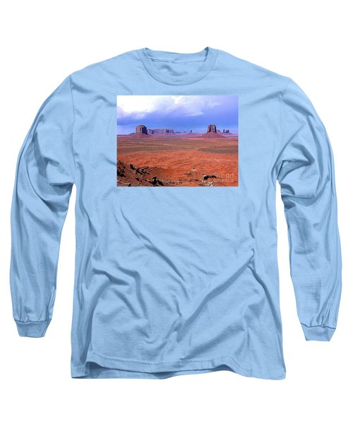 Long Sleeve T-Shirt featuring the photograph Monument Valley Panorama Landscape by Merton Allen