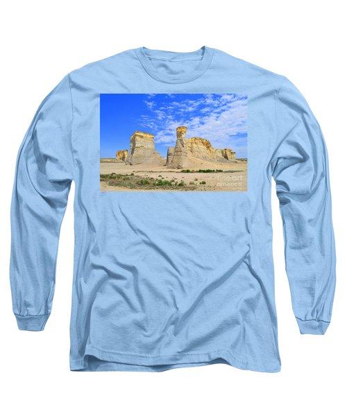 Monument Rocks In Kansas 2 Long Sleeve T-Shirt