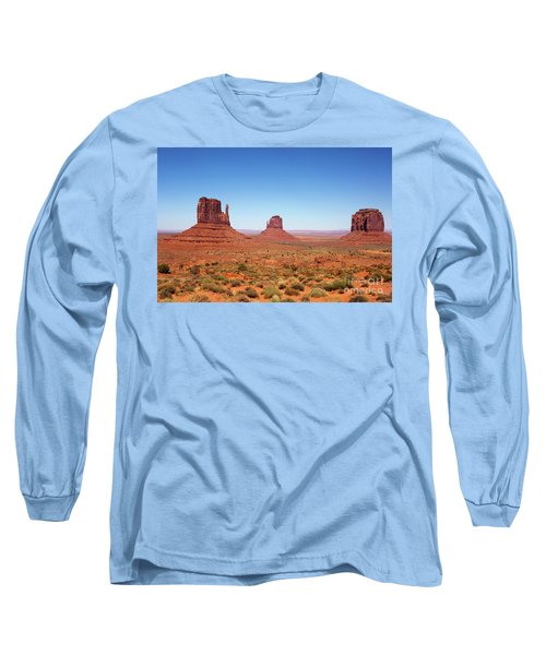 Monument Valley Utah The Mittens Long Sleeve T-Shirt