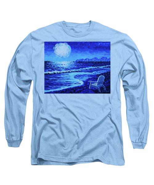 Moon Beach Long Sleeve T-Shirt