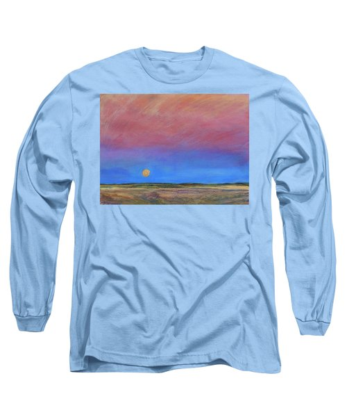 Harvest Moon  Long Sleeve T-Shirt by Helen Campbell