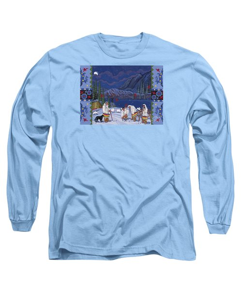 Long Sleeve T-Shirt featuring the painting Moon When The Rivers Dream by Chholing Taha