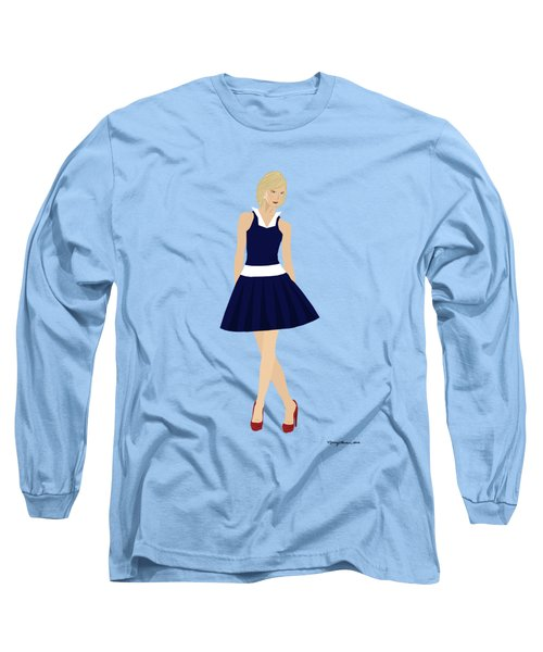 Long Sleeve T-Shirt featuring the digital art Morgan by Nancy Levan