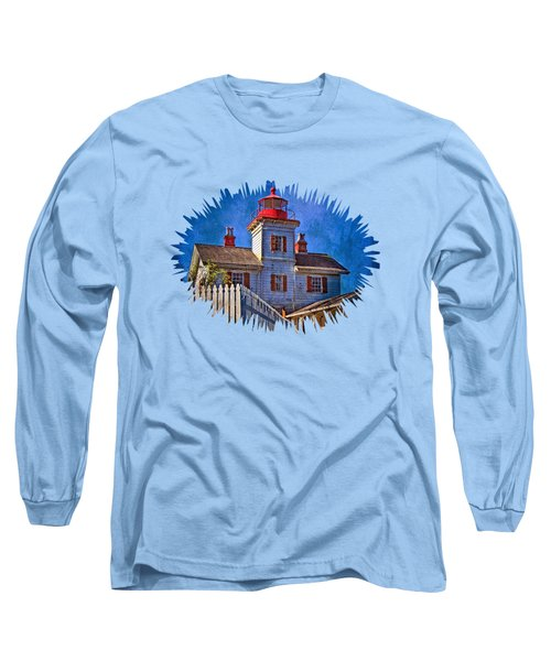 Morning At The Yaquina Bay Lighthouse Long Sleeve T-Shirt by Thom Zehrfeld