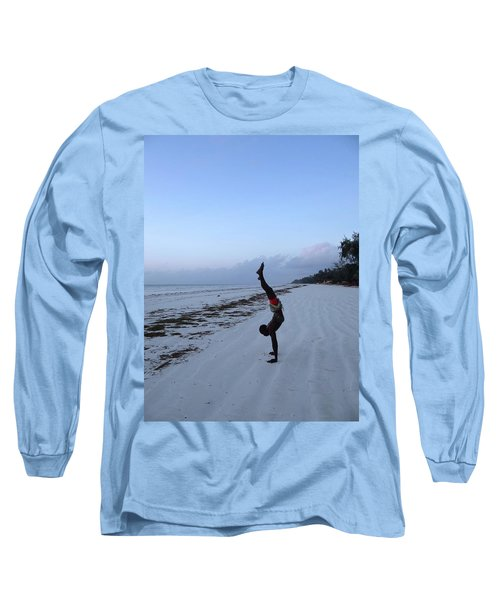 Morning Exercise On The Beach Long Sleeve T-Shirt