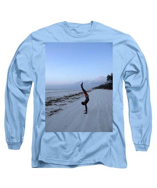 Morning Exercise On The Beach Long Sleeve T-Shirt