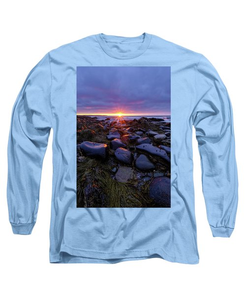 Morning Fire, Sunrise On The New Hampshire Seacoast  Long Sleeve T-Shirt