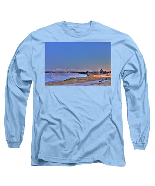 Morning On The Mississippi Long Sleeve T-Shirt by Barry Jones