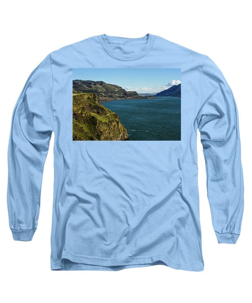 Mossy Cliffs On The Columbia Long Sleeve T-Shirt