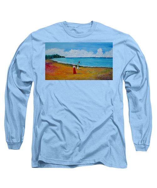 Long Sleeve T-Shirt featuring the painting Mother And Daughter by Marilyn  McNish