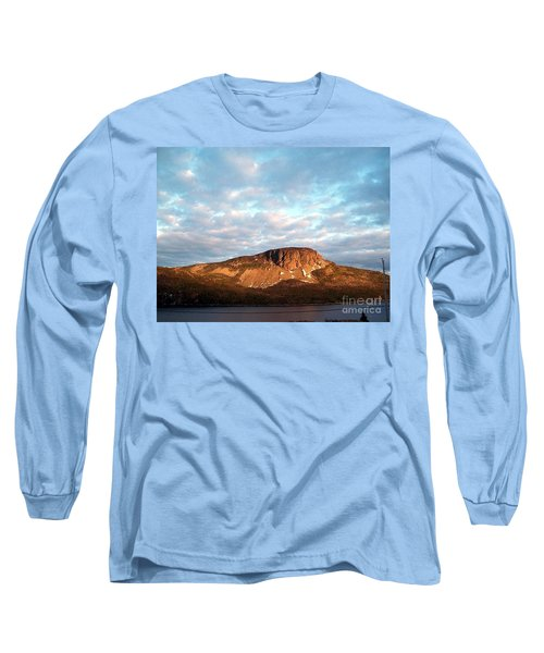 Mottled Sky Of Late Spring Long Sleeve T-Shirt by Barbara Griffin