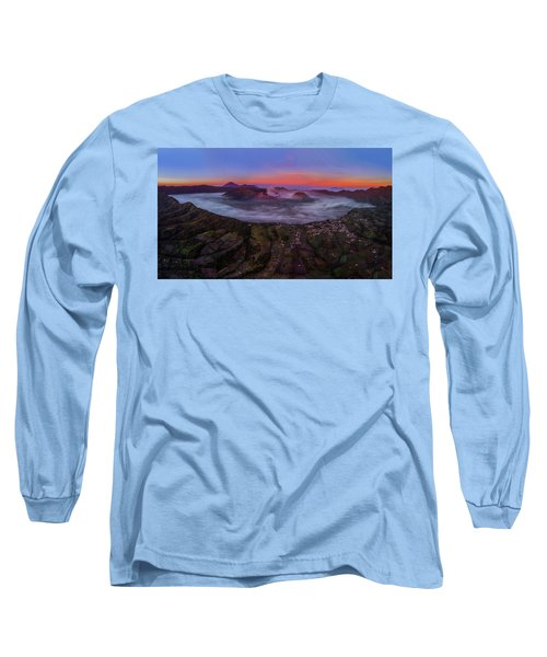 Mount Bromo Misty Sunrise Long Sleeve T-Shirt