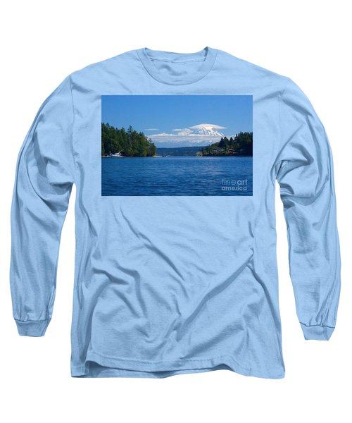 Mount Rainier Lenticular Long Sleeve T-Shirt by Sean Griffin