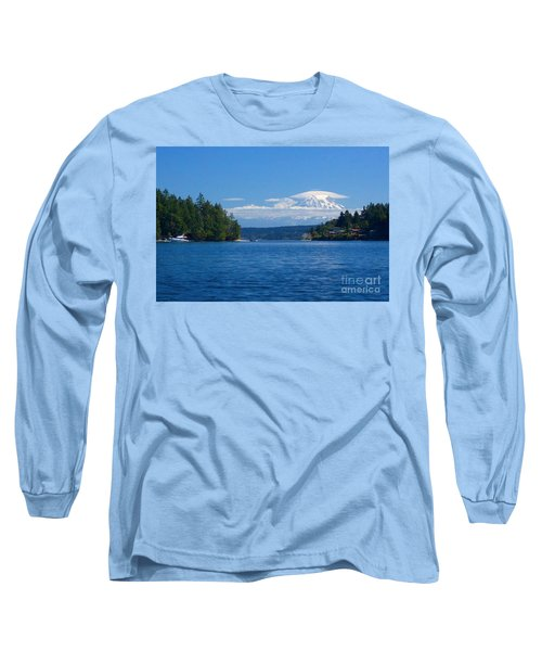 Mount Rainier Lenticular Long Sleeve T-Shirt