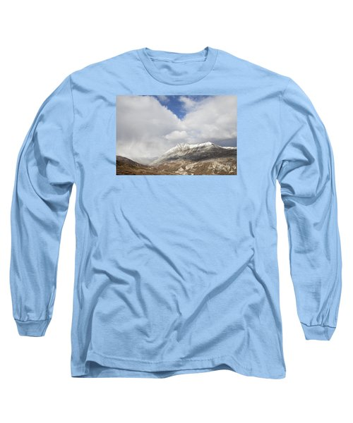 Mountain Clouds And Sun Long Sleeve T-Shirt by Michele Cornelius