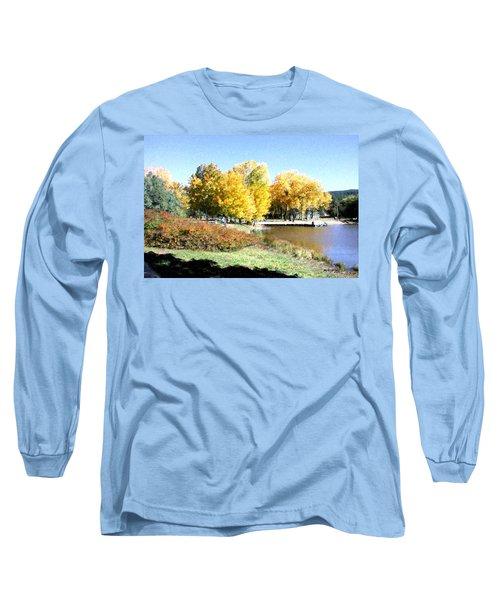 Mountain Lake Autumn Long Sleeve T-Shirt