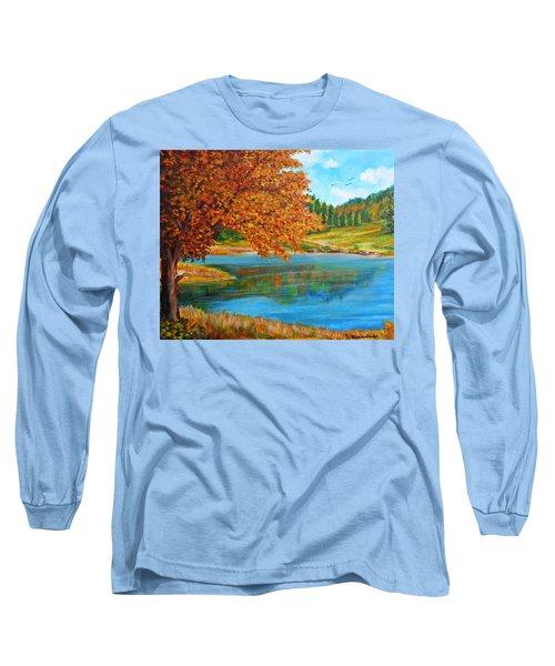Mountain Lake In Greece Long Sleeve T-Shirt