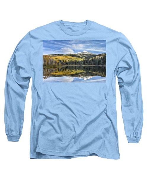 Mountain Lake Reflection Long Sleeve T-Shirt