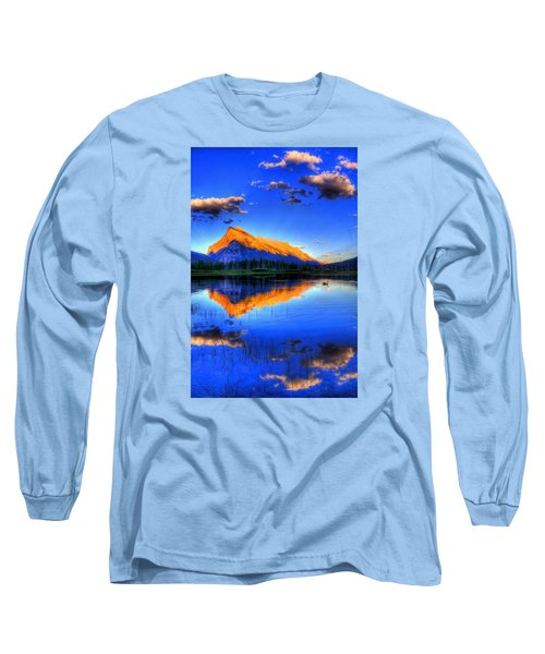 Mountain Reflection Long Sleeve T-Shirt by Sean McDunn