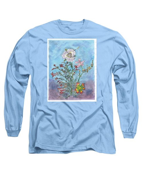 Long Sleeve T-Shirt featuring the painting Mountain Wildflowers II by Dawn Senior-Trask