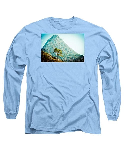 Mountain With Pine Artmif.lv Long Sleeve T-Shirt