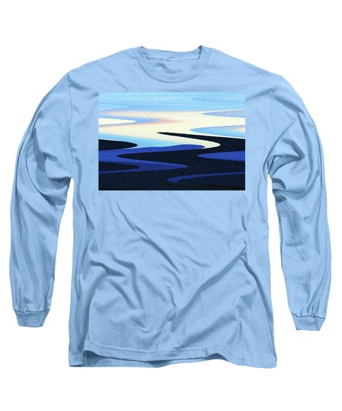 Mountains And Sky Abstract Long Sleeve T-Shirt