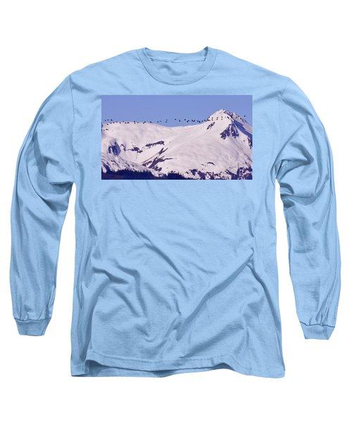 Mountaintop Geese II Long Sleeve T-Shirt