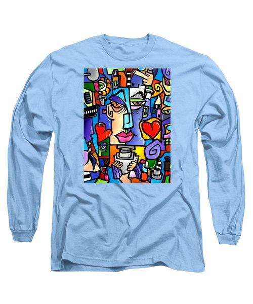 Mr Roboto Long Sleeve T-Shirt by Tom Fedro - Fidostudio