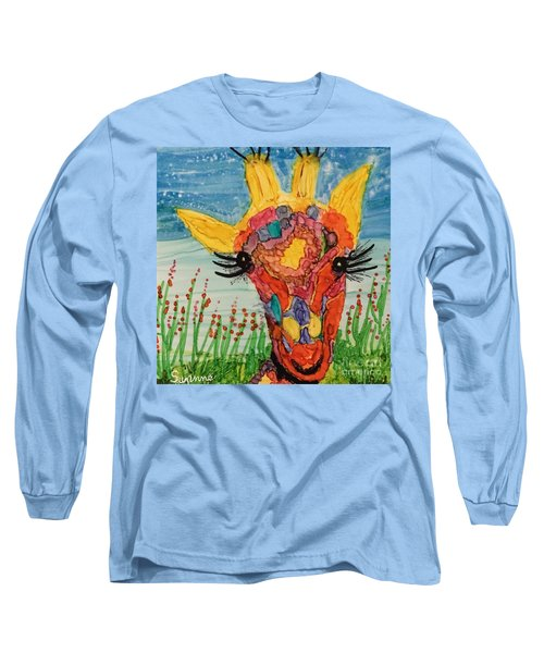 Mrs Giraffe Long Sleeve T-Shirt by Suzanne Canner