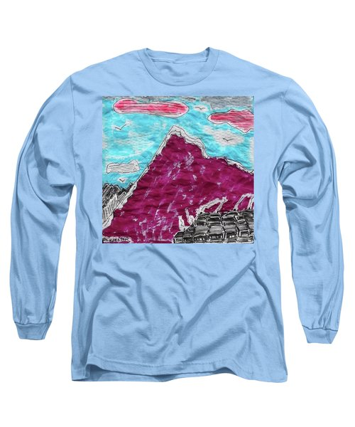 Mt. Fuji Village  Long Sleeve T-Shirt by Don Koester
