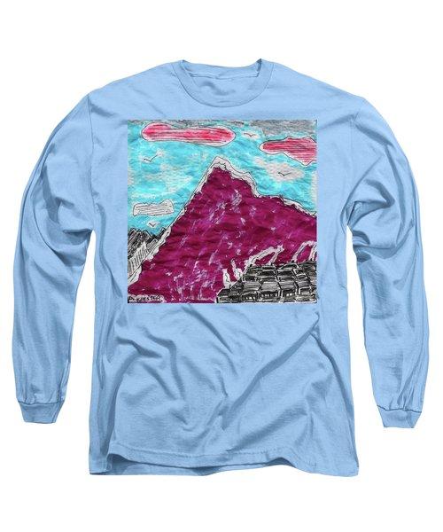 Mt. Fuji Village  Long Sleeve T-Shirt by Don Koester