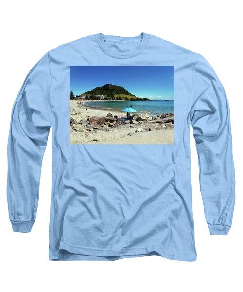 Mt Maunganui Beach 5 - Tauranga New Zealand Long Sleeve T-Shirt by Selena Boron