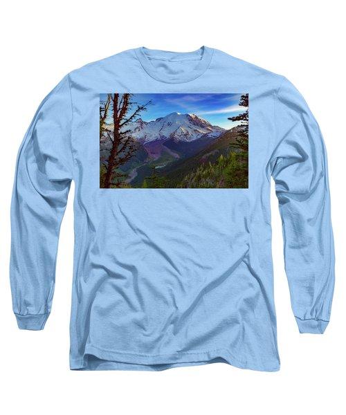 Mt Rainier At Emmons Glacier Long Sleeve T-Shirt