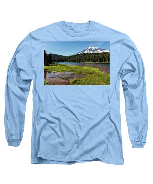 Mt Rainier From Reflection Lake, No. 2 Long Sleeve T-Shirt