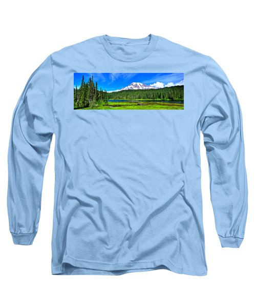 Mt. Rainier From Reflection Lakes Long Sleeve T-Shirt