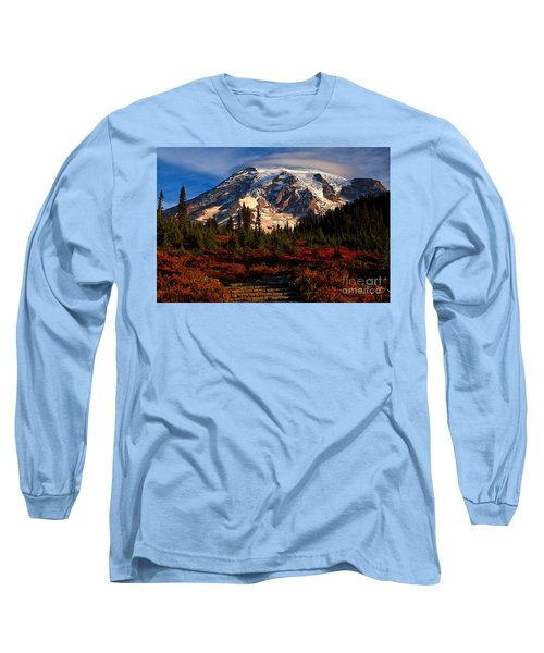 Mt. Rainier Paradise Morning Long Sleeve T-Shirt by Adam Jewell