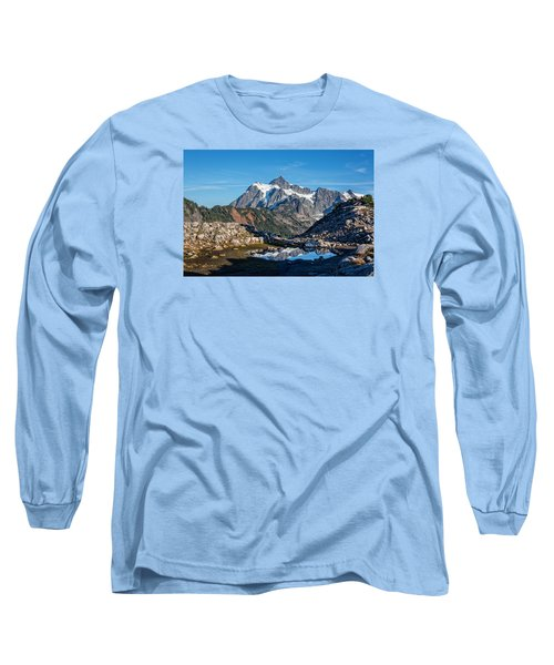 Mt. Shuksan Long Sleeve T-Shirt by Sabine Edrissi Photography
