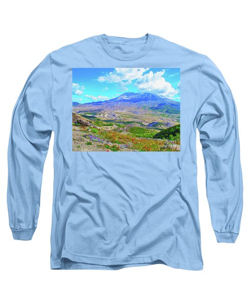 Mt. St. Helens Wildflowers Long Sleeve T-Shirt by Ansel Price