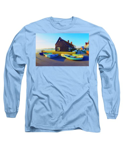 Muddage  Rowers Long Sleeve T-Shirt by Jan W Faul