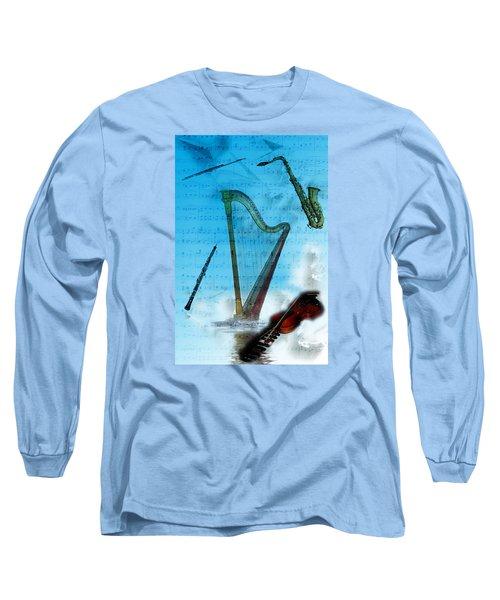 Musical Instruments Long Sleeve T-Shirt by Angel Jesus De la Fuente