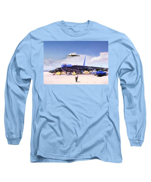 Long Sleeve T-Shirt featuring the digital art My Baby B-52 by Peter Chilelli
