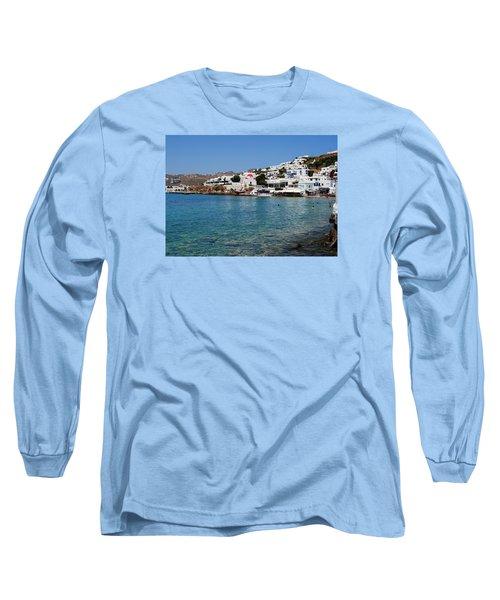 Mykonos Beach Long Sleeve T-Shirt