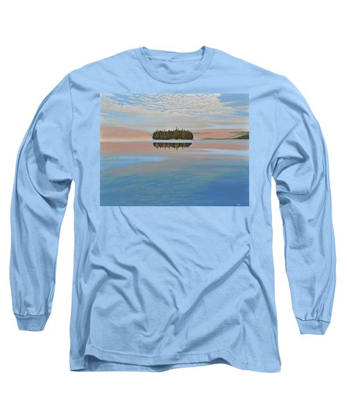 Long Sleeve T-Shirt featuring the painting Mystic Island by Kenneth M  Kirsch