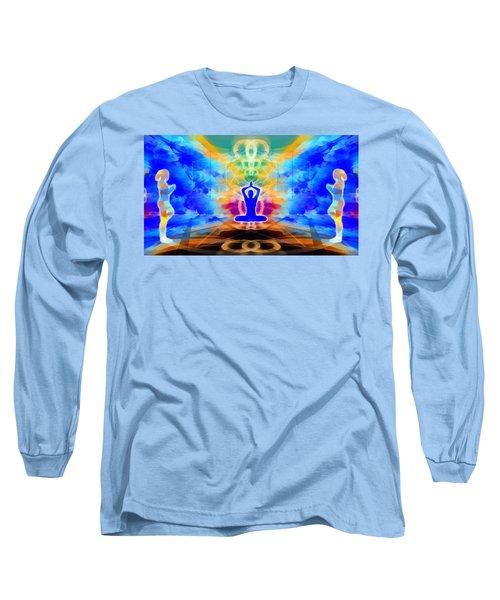 Long Sleeve T-Shirt featuring the digital art Mystic Universe 13 by Derek Gedney