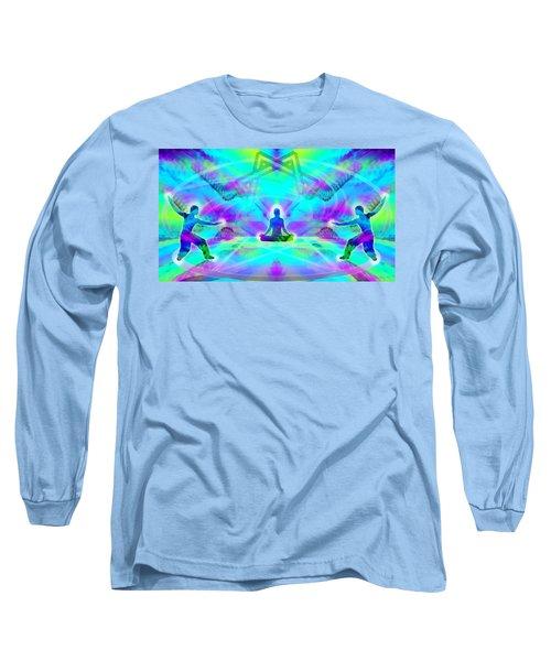 Long Sleeve T-Shirt featuring the digital art Mystic Universe 8 by Derek Gedney