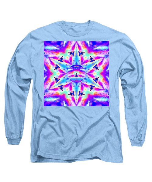 Long Sleeve T-Shirt featuring the digital art Mystic Universe Kk 10 by Derek Gedney