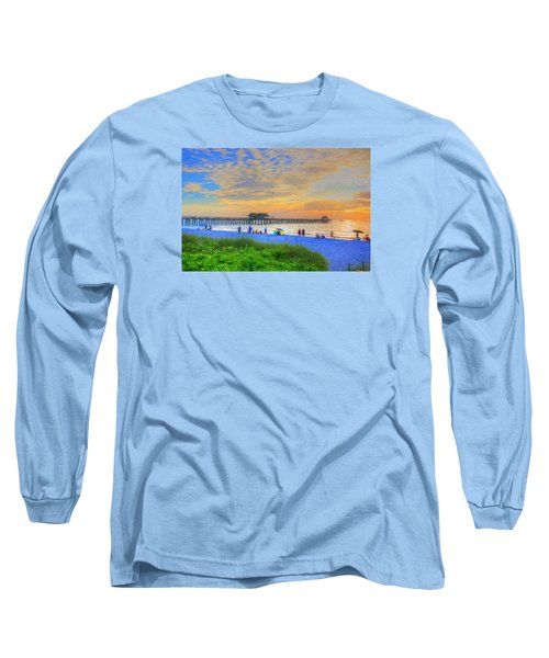 Naples Beach Long Sleeve T-Shirt by Sharon Batdorf
